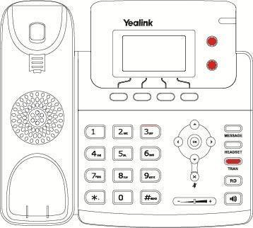 Como transferir llamadas con el terminal Yealink T21P