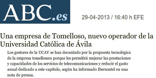 ABC - 29/04/2013 - Universidad Católica de Ávila