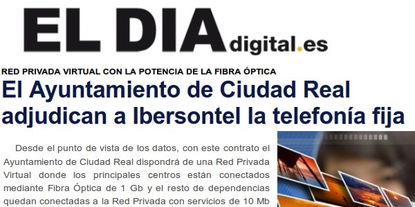 eldiadigital - El Ayuntamiento de Ciudad Real adjudica a Ibersontel la telefonía fija