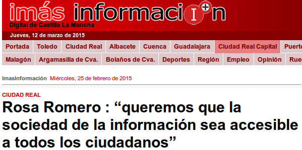 """ImasTV - 25/02/2015 - Rosa Romero : """"queremos que la sociedad de la información sea accesible a todos los ciudadanos"""""""