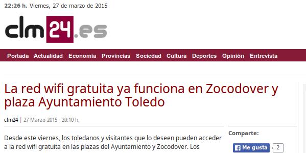 clm24.es - La red wifi gratuita ya funciona en Zocodover y plaza Ayuntamiento Toledo