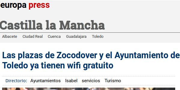 Wifi Municipal 5G Ayuntamiento de Toledo