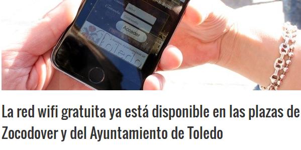 toledo24horas.com - 27/03/2015 - La red wifi gratuita ya está disponible en las plazas de Zocodover y del Ayuntamiento de Toledo