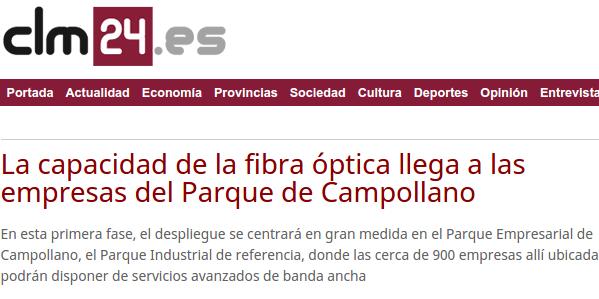 La capacidad de la fibra óptica llega a las empresas del Parque de Campollano