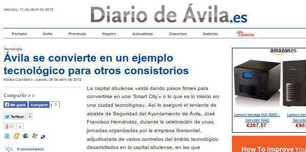 Ávila se convierte en un ejemplo tecnológico para otros consistorios