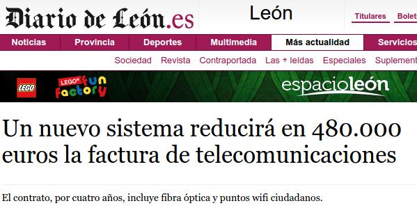 Un nuevo sistema reducirá en 480.000 euros la factura de telecomunicaciones