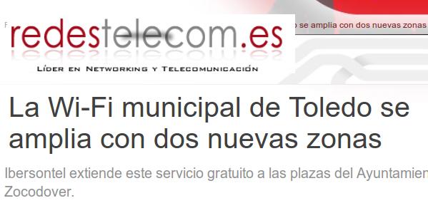 La Wi-Fi municipal de Toledo se amplia con dos nuevas zonas